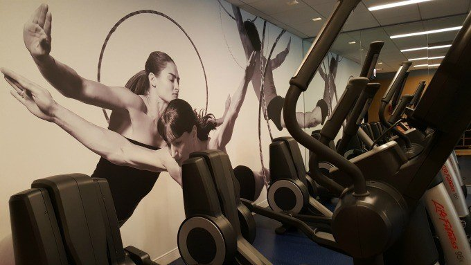 Fitness center at the Hyatt