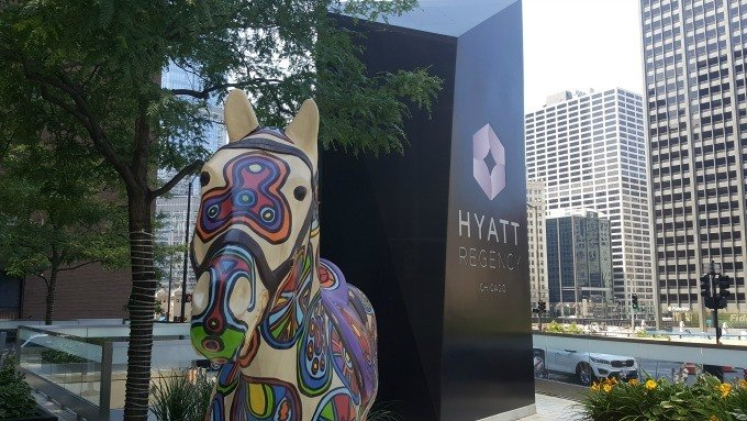 The Hyatt Regency Chicago is located on East Wacker Drive, an easy drive into the city.
