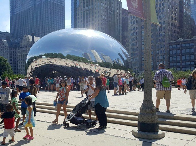 Lots of people at the bean