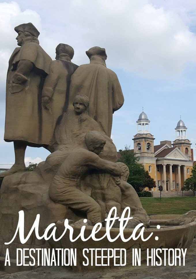 Marietta, Ohio is a destination steeped in history. From Indian Mounds, to historic homes and buildings, this town along the Ohio River is a must for architecture or history lovers.
