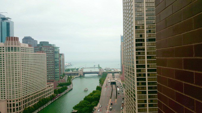 View of Lake Michigan from the Hyatt