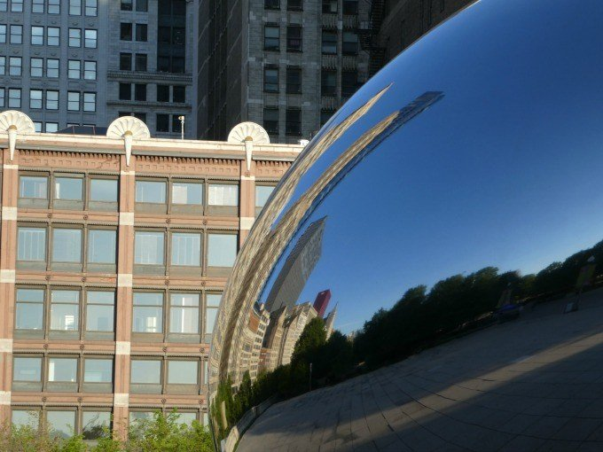 The Chicago Bean is also known as it's common name, Cloud Gate.