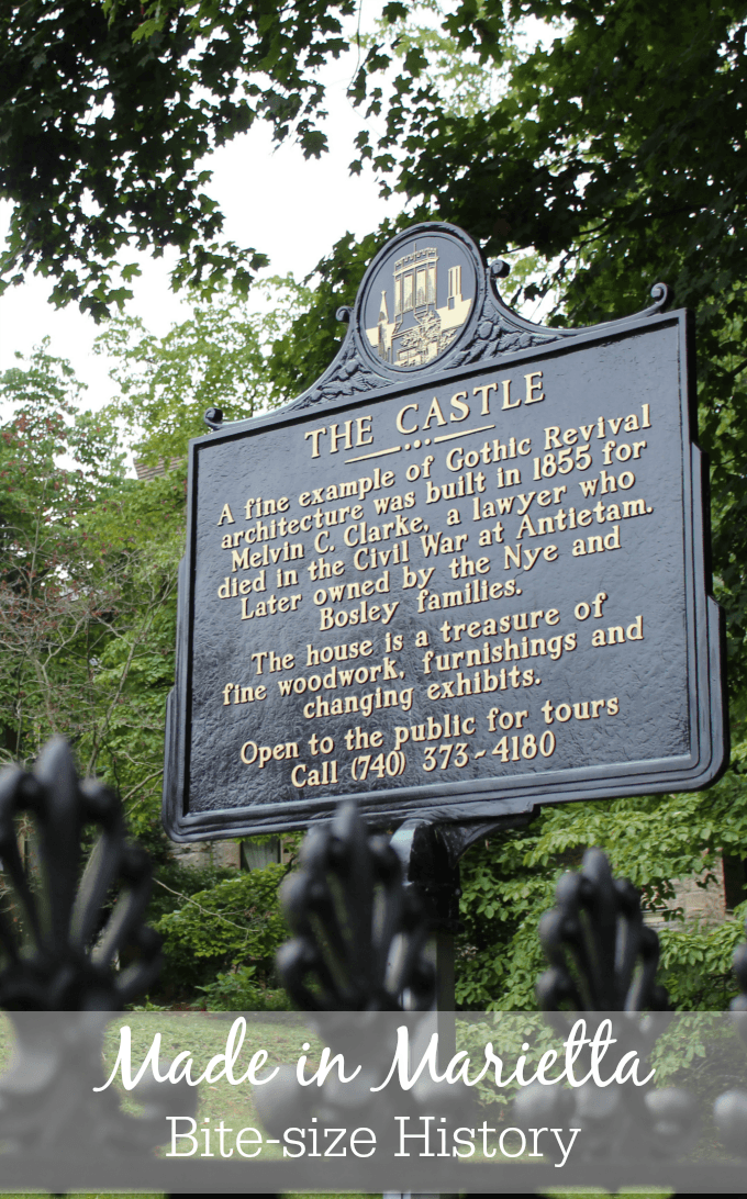 These cast aluminum historical markers that are found throughout the 50 states and some foreign countries, are made in Marietta, Ohio at Sewah Studios.