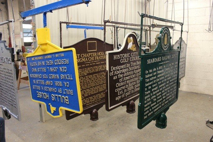 Sewah Studios in Marietta, Ohio is the leading producer of handmade cast aluminum markers in the US.