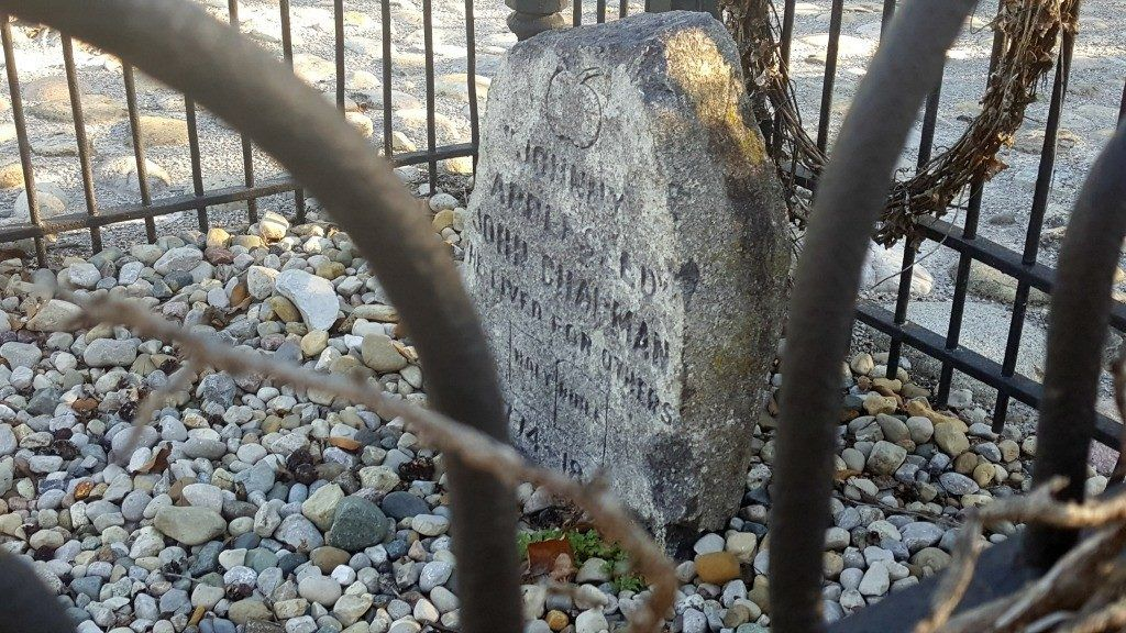 Johnny Appleseed's Grave in Fort Wayne, Indiana.