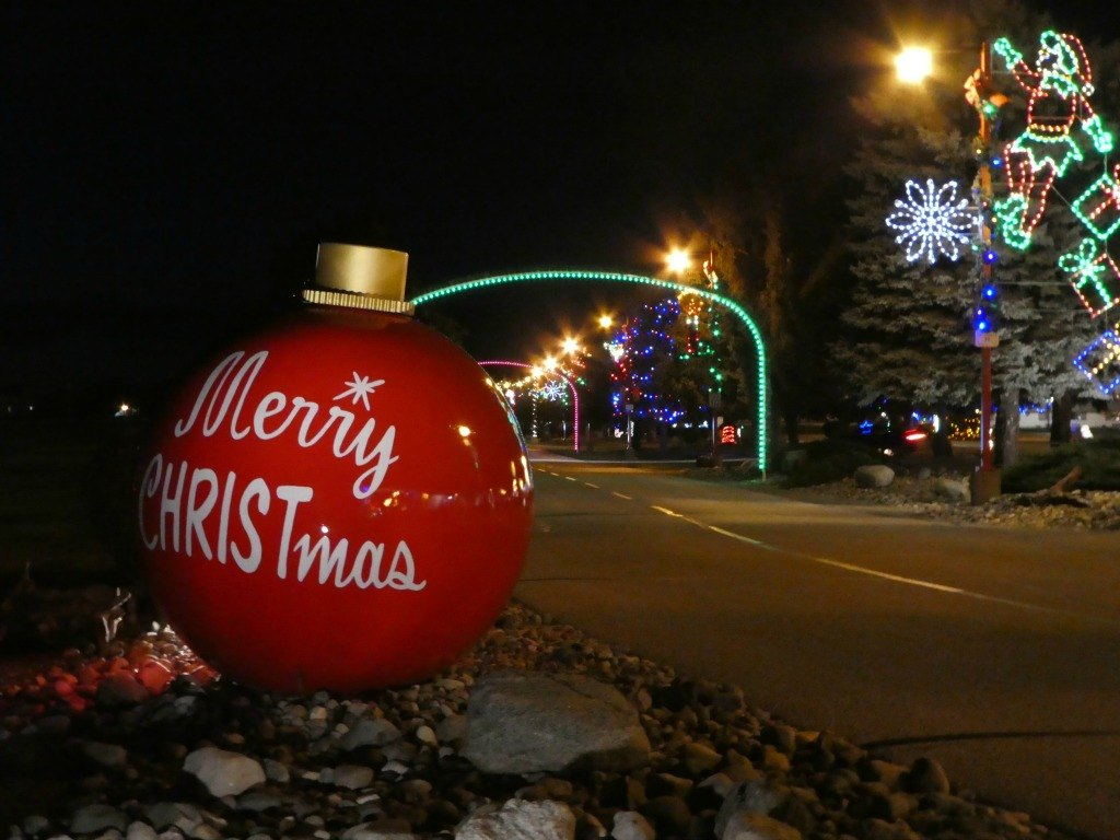 Christmas Lights at Bronner's in Frankenmuth