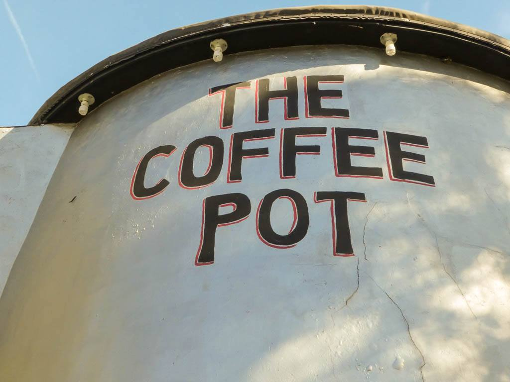 Giant coffee pot on Lincoln Highway in Pennsylvania