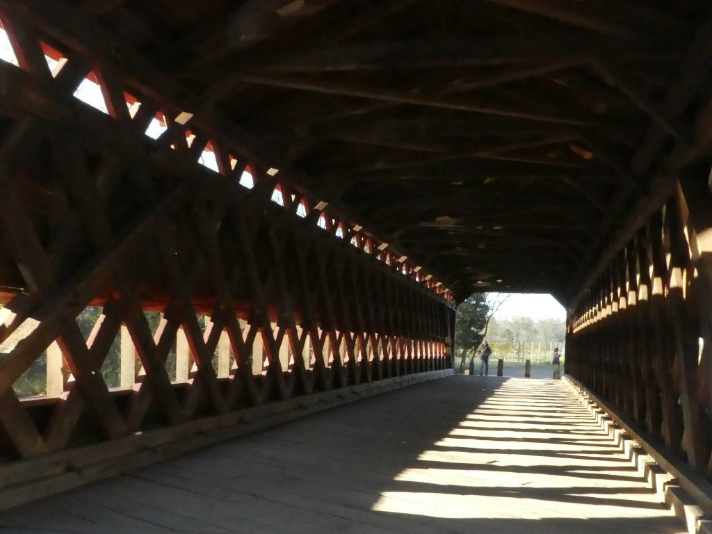 Interior of the Sachs Covered Bridge