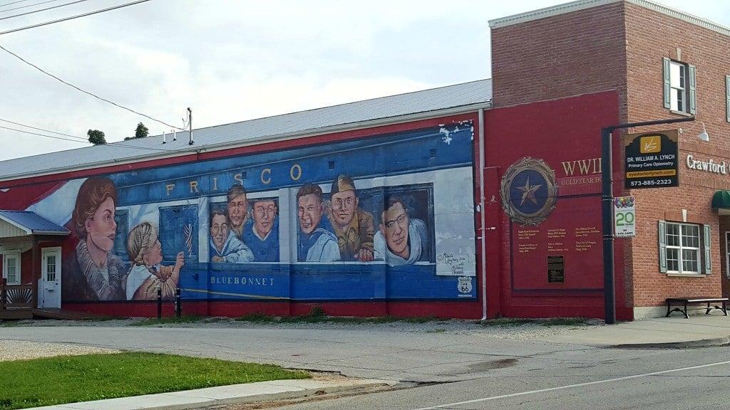 Murals in Cuba, Missouri.