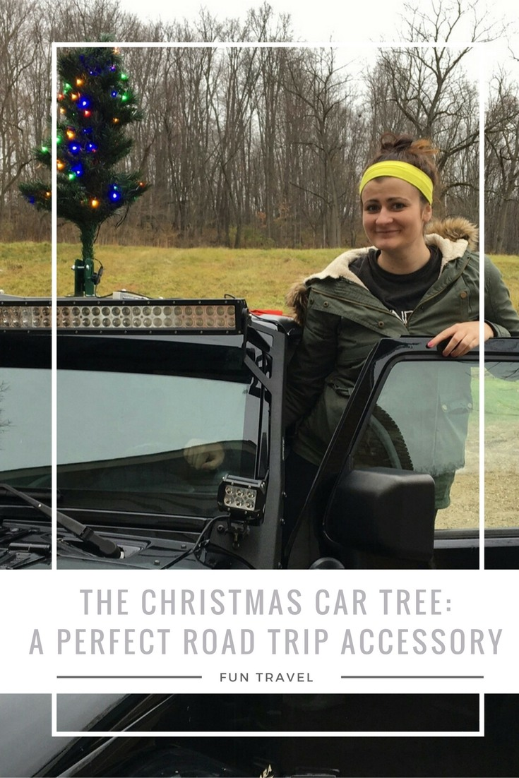The Christmas Car Tree- a perfect road trip accessory. #TakeChristmaswithYou