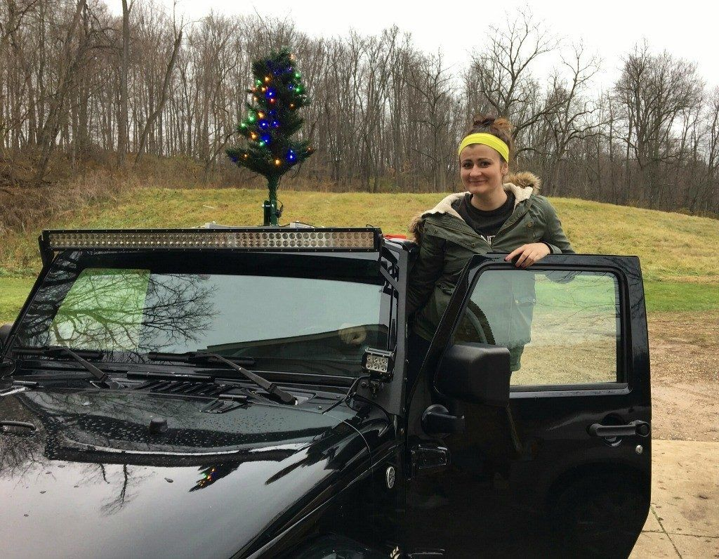 Get in the Holiday Spirit on your next Road Trip with the Christmas Car Tree