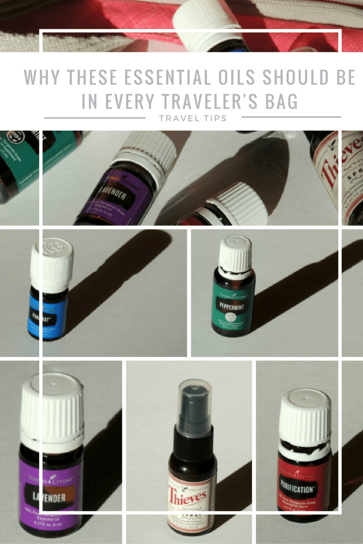 Why these essential oils should be in every traveler's bag. 5 Young Living products for travel.