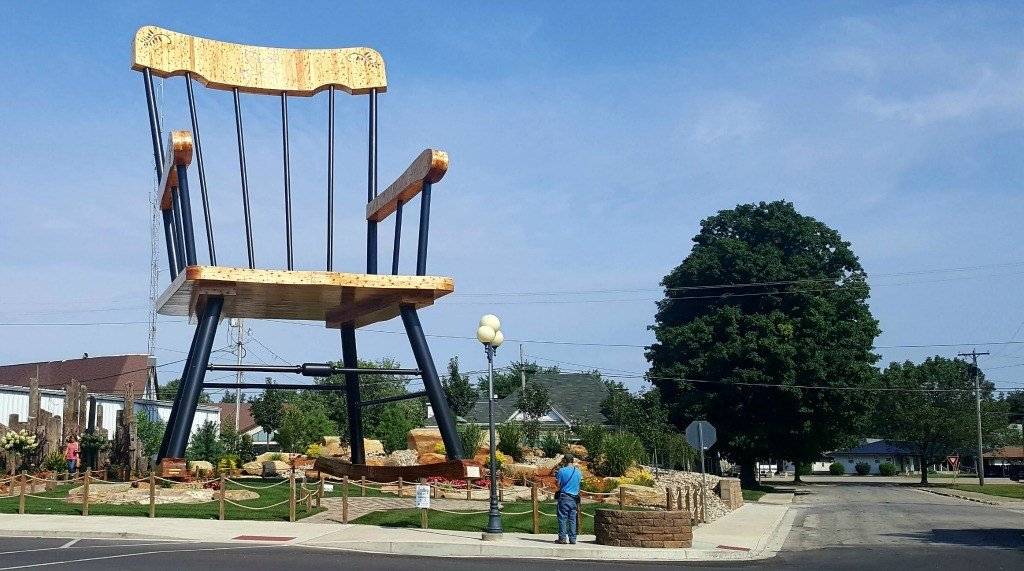 The World's largest rocking chair roadside attraction in Casey, Illinois