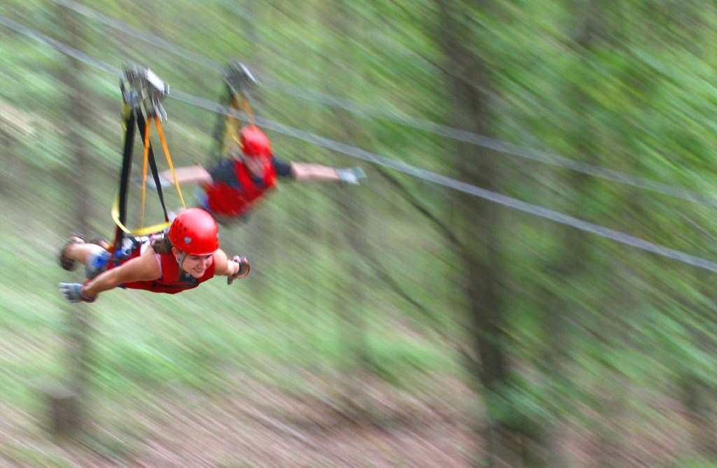 Ziplining in Hocking Hills Photo Courtesy of Weirick Communications