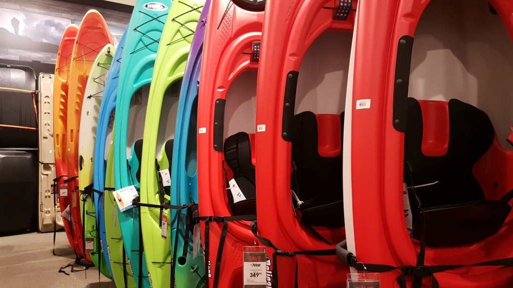 Kayaks at Field & Stream