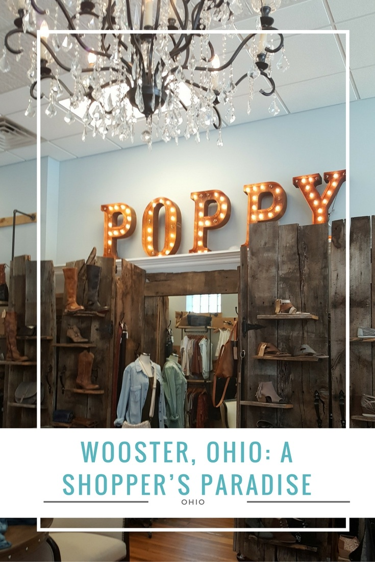 Shopping in Wooster was definitely a surprise to me .To be considered a small town, there is a wide variety of shops and boutiques in Wooster.