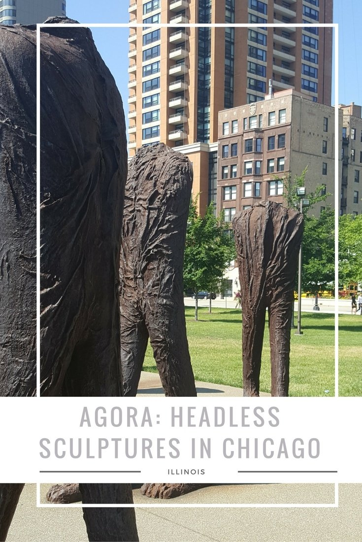 The mass of Headless Sculptures in Chicago are called Agora. Located in Grant Park, they aren't as creepy as one would think but tend to be fascinating.