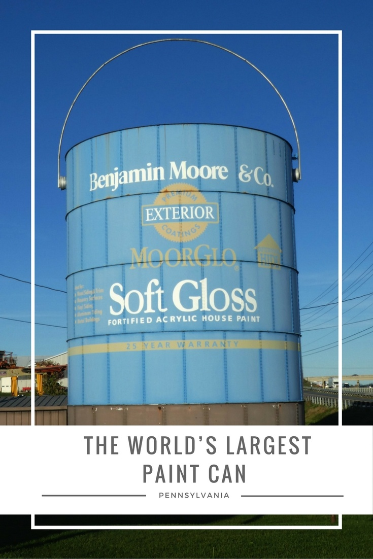 The World's Largest Paint Can Roadside Attraction in Shippensburg, Pennsylvania is located right off I-81.