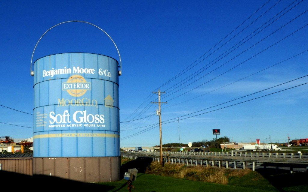 The World's Largest Paint Can is located in Shippensburg, Pennsylvania