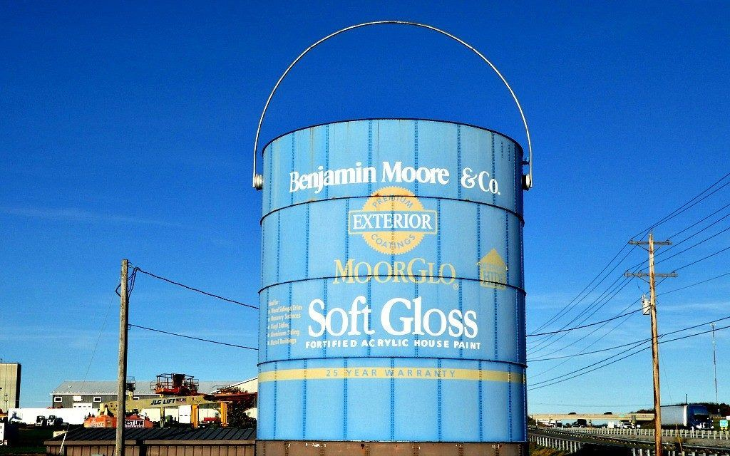 The giant Benjamin Moore & Co. paint can can be seen from I-81 in Pennsylvania.