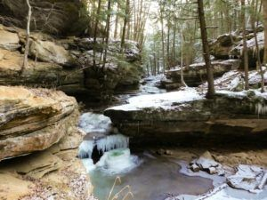 If you're looking for things to do in Hocking Hills in the Winter, consider a winter hike.