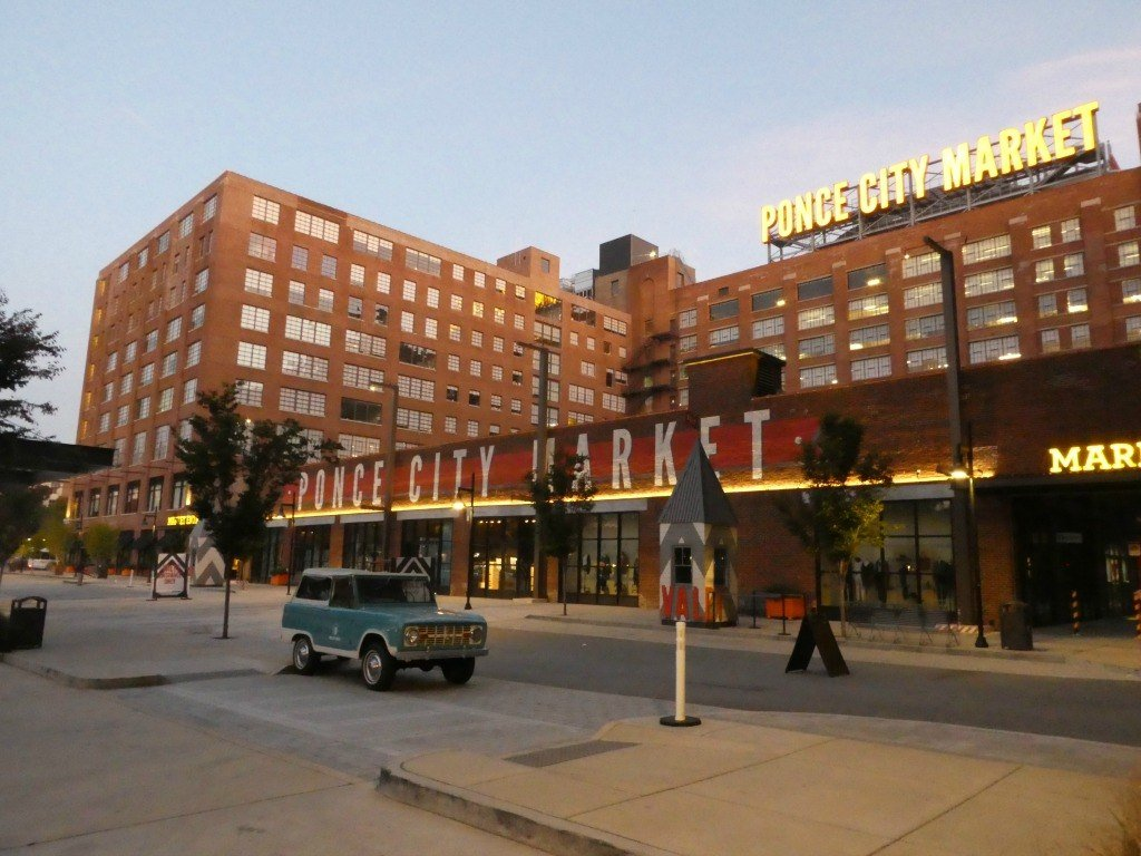 One of the entrances to the Ponce City Market