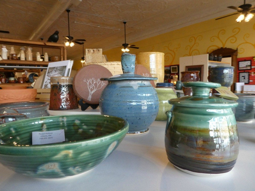 Pottery at the Nelsonville Emporium
