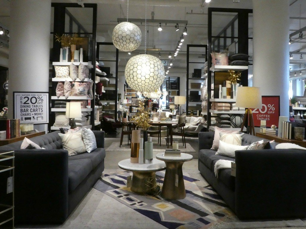 Shopping at West Elm in Atlanta, Georgia at the Ponce City Market