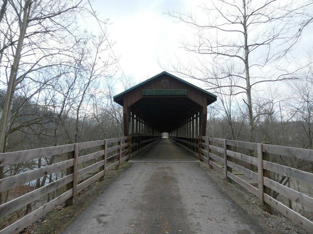 The Bridge of Dreams Covered Bridge is one of 125 covered bridges in Ohio that remain today. You can see this covered bridge near Danville.