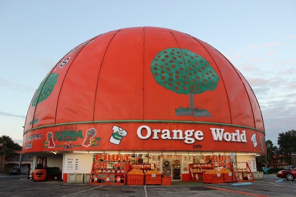 Florida's Orange World in Kissimmee is the world's largest orange roadside attraction.