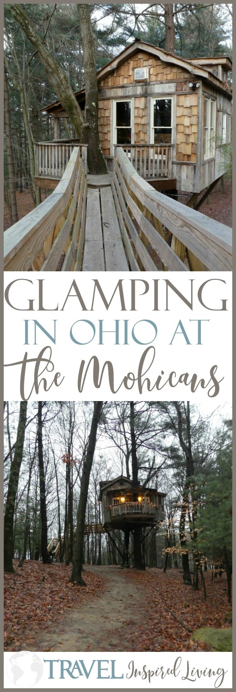 Glamping in Ohio? You bet! Spend the night in one of these Treehouses and go glamping at The Mohicans.