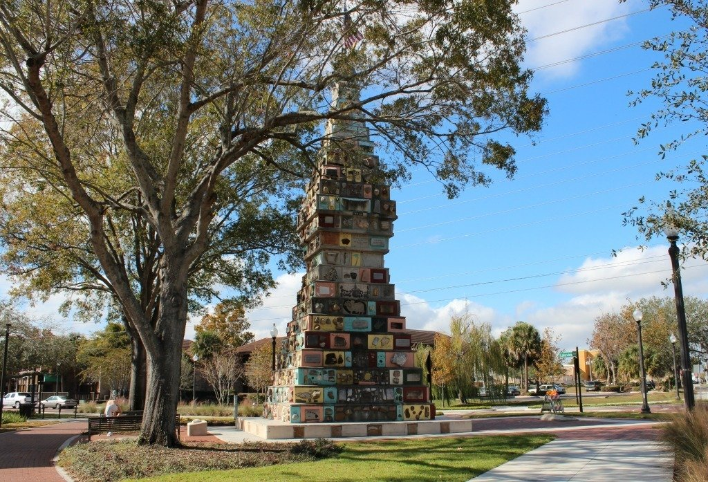 The Monument of the States roadside attraction in Kissimmee.