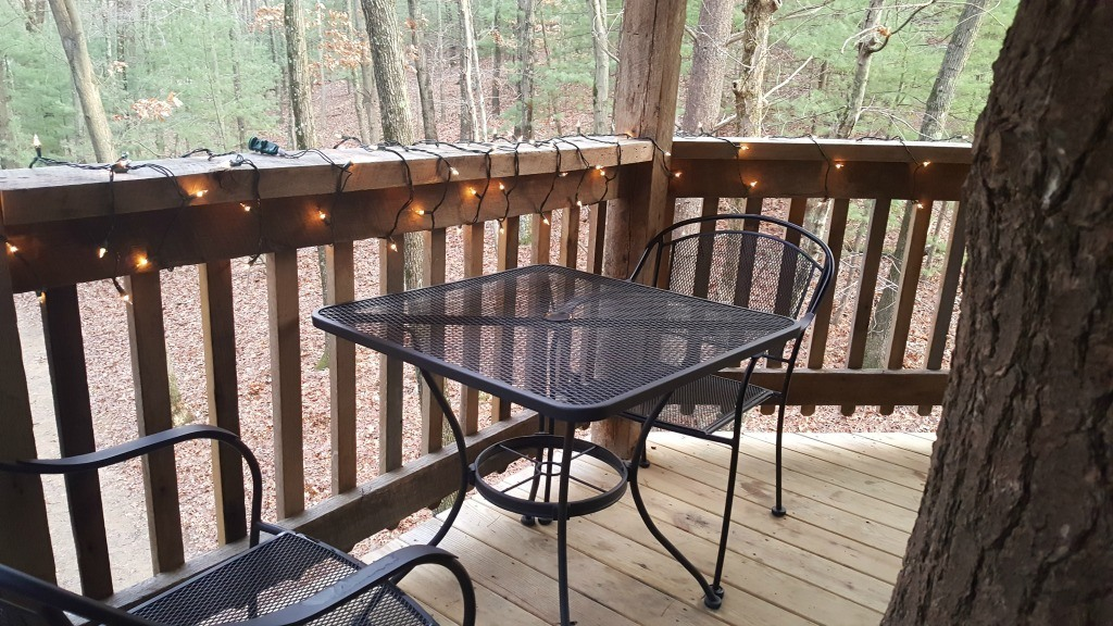 The deck at the treehouse
