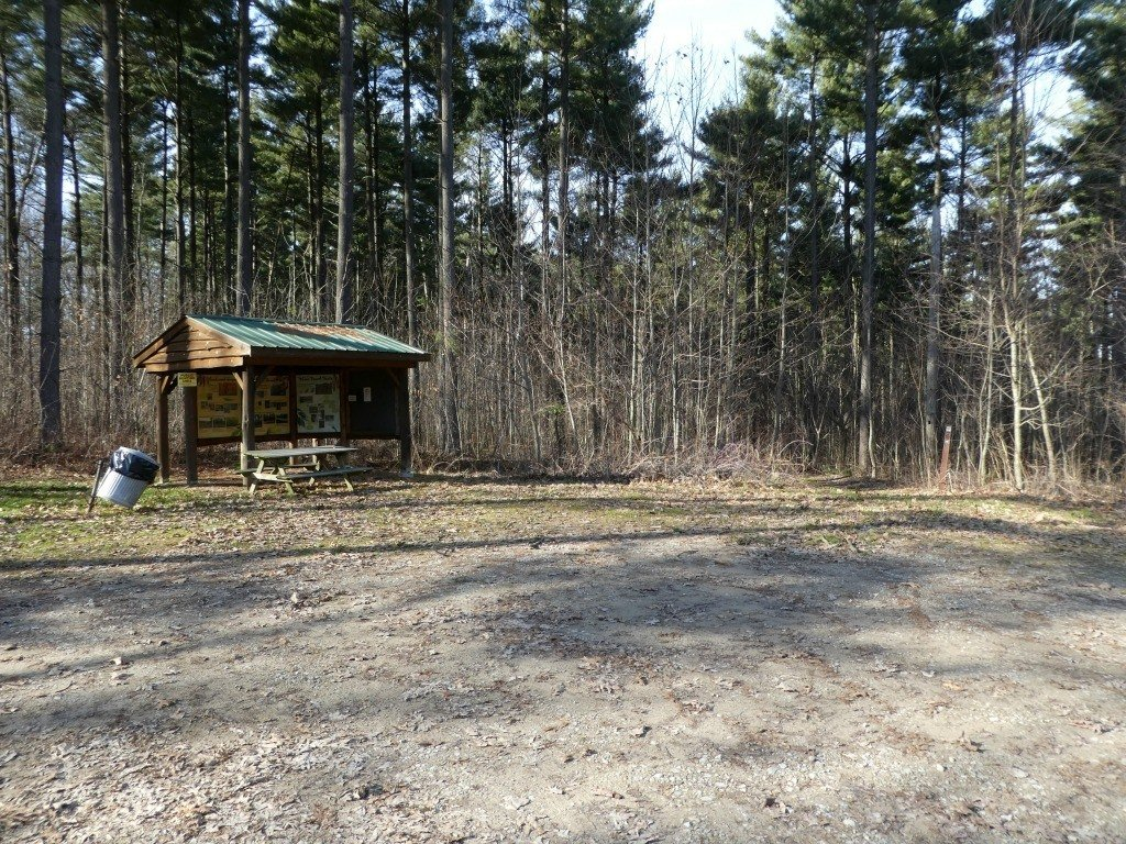 The kiosk at the Discovery Forest Trail in Mohican-Memorial State Forest