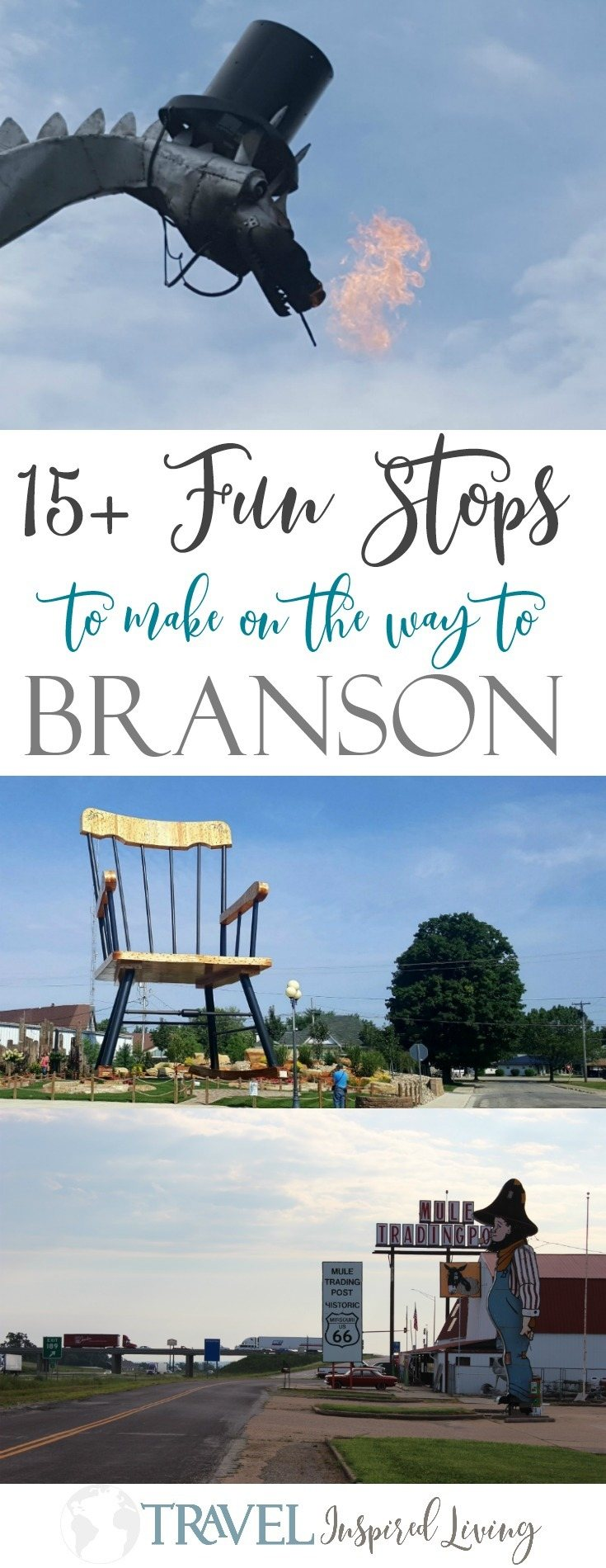 15+ fun stops to make on a road trip to Branson. From Route 66 to the world's largest rocking chair you'll find plenty to see and do.