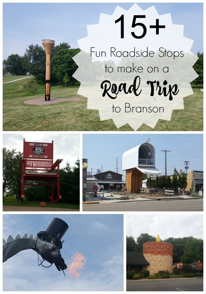 15+ fun roadside stops to make on a road trip to Branson, Missouri from Ohio.