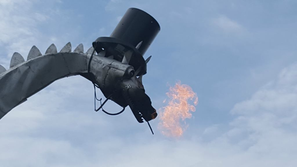 Kaskaskia fire breathing dragon in Illinois
