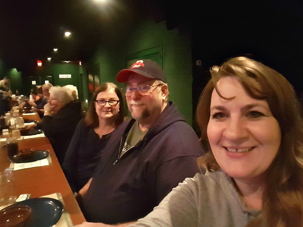 With mom and dad at the Dixie Stampede