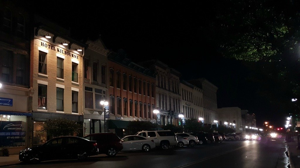 Hotel Kilbourne in historic downtown Sandusky Ohio