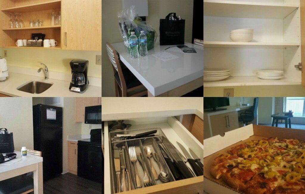 Kitchen at Sonesta ES Suites