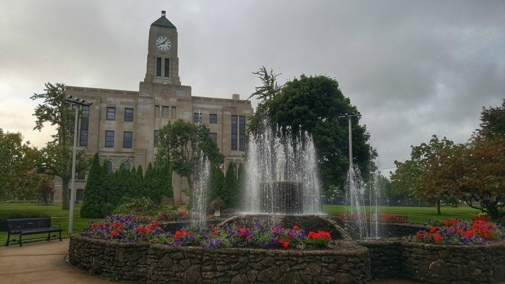 The Courthouse in Washington Park in Downtown Sandusky
