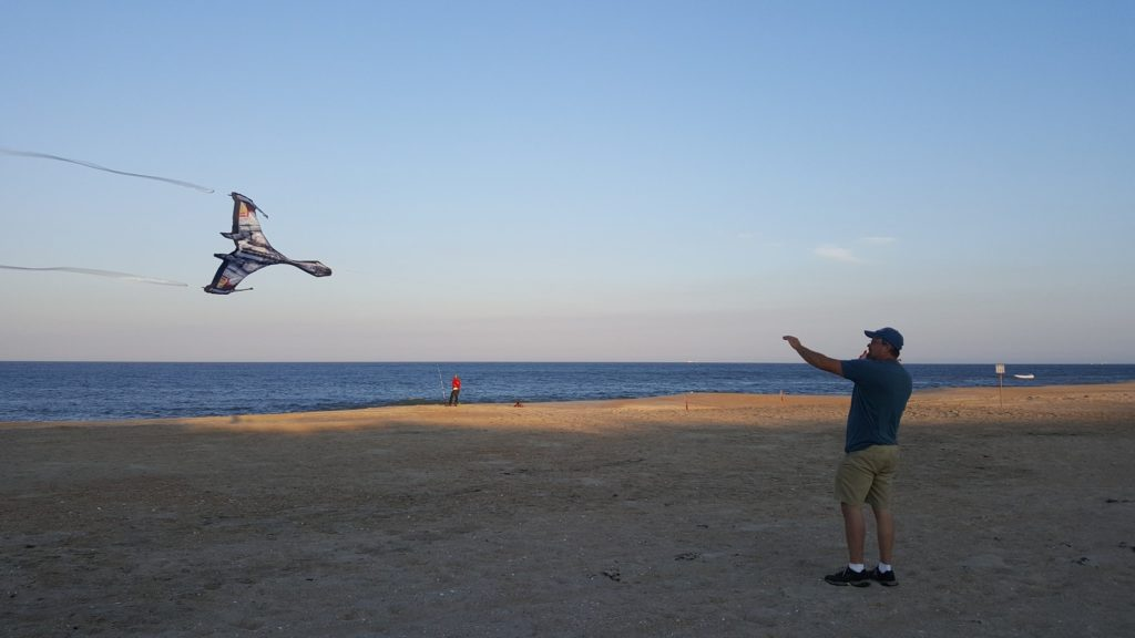 Flying a kite in the Outer Banks