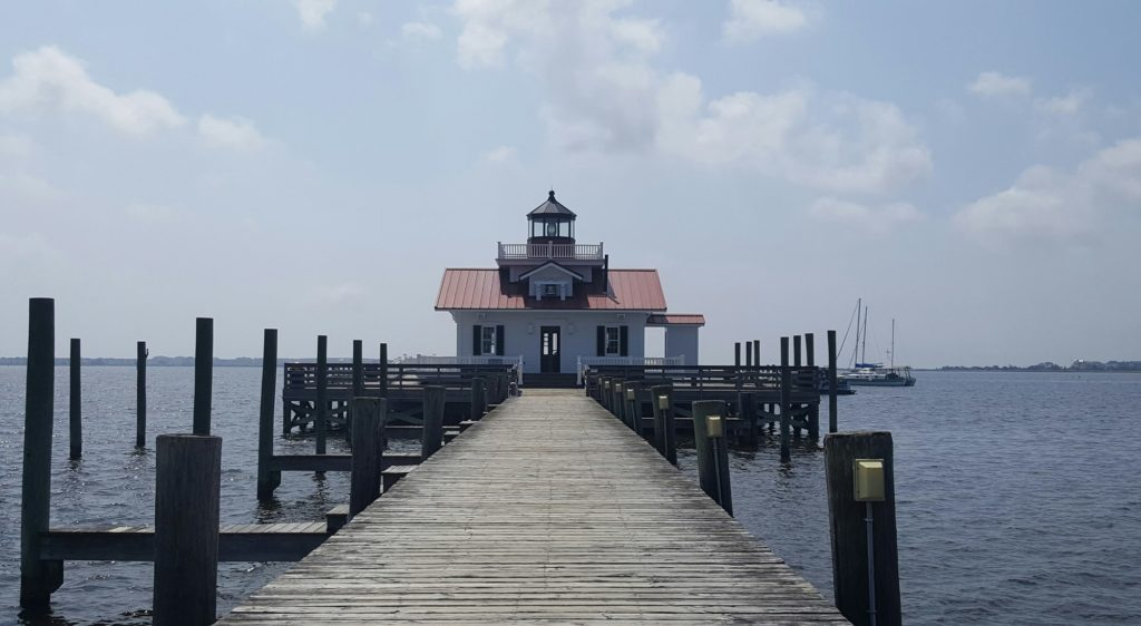 The Roanoke Marshes Lighthouse is one of five lighthouses located in the Outer Banks.