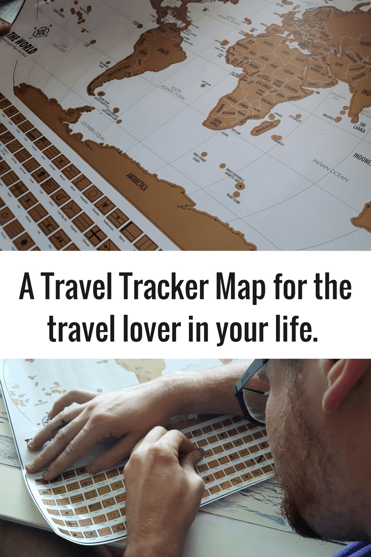 A scratch off travel tracker map for the travel lover in your life.