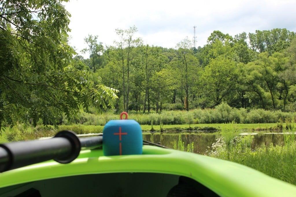 Kayaking with WONDERBOOM by Ultimate Ears