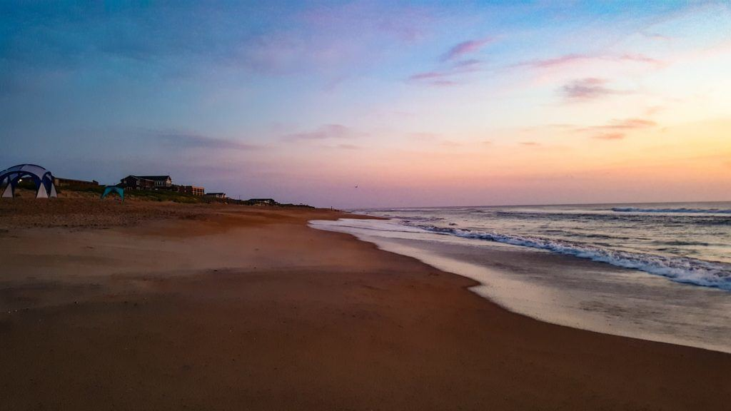 The sunrise in the Outer Banks at Cavalier by the Sea in Kill Devil Hills.