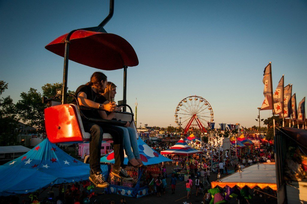 The Skyglider at the Ohio State Fair is one of 7 iconic attractions you must see and enjoy at the Ohio State Fair.