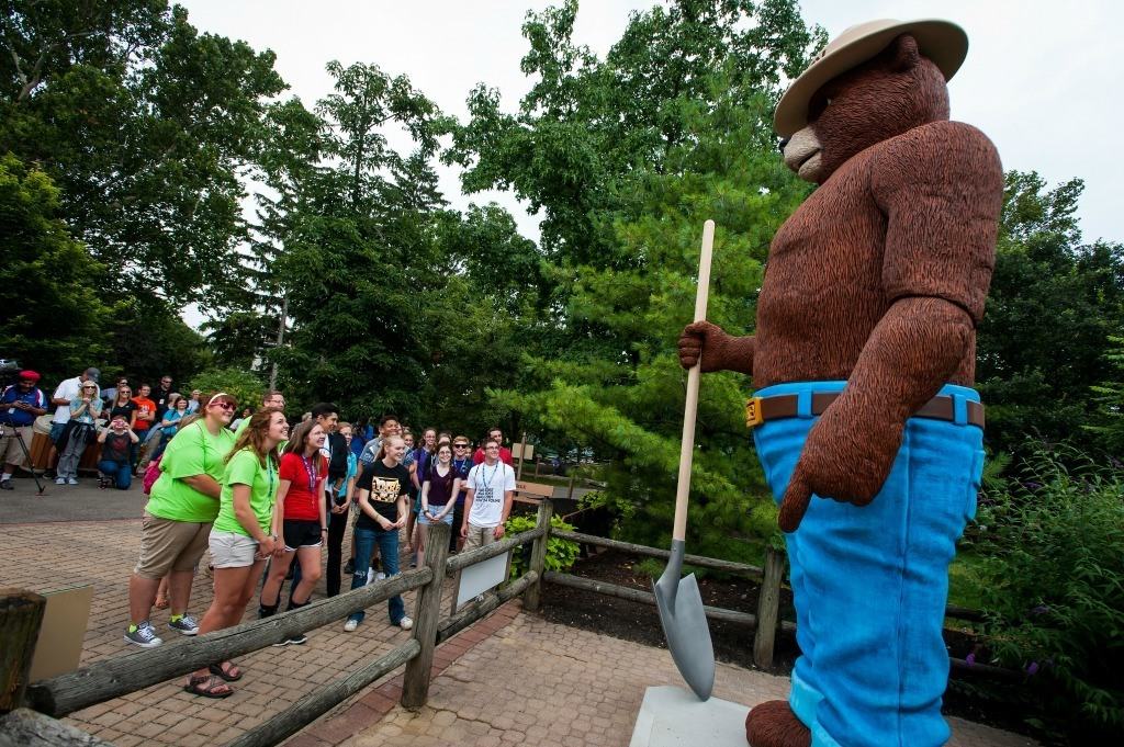 Smokey Bear at the Ohio State Fair is one of 7 iconic sites that you must see.