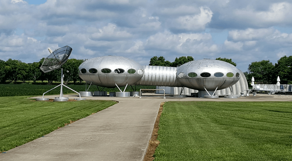 The Futuro House in one of 50 quirky things to do in Ohio.