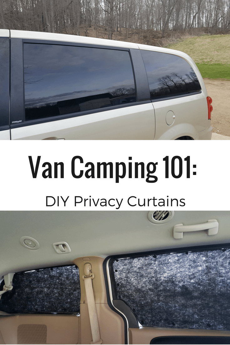 Improve your van camping experience with these easy, DIY privacy curtains.